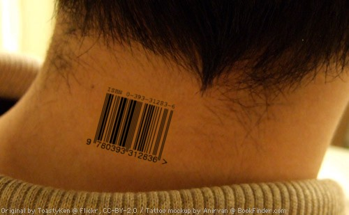 the barcode tattoo book. Would you get an ISBN tattooed