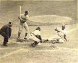 "It's a Steal, All Right"", Original Photograph of Jackie Robinson Stealing Home Against the Yankees in the 1955 World Series"