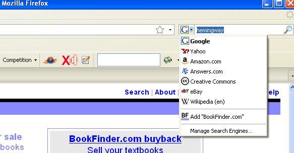 BookFinder OpenSearch FireFox